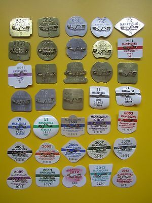 Vintage    Manasquan    New    Jersey    Beach    Badges/tags     35  Years