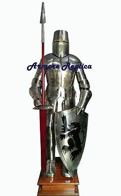 Medieval Suit Of Armor-15 Century-Full Body Armor With Stand