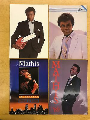 Johnny Mathis-4 Concert Programmes-1986-1987-1989-1991-