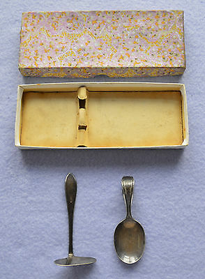 Vintage EPNS baby spoon and pusher
