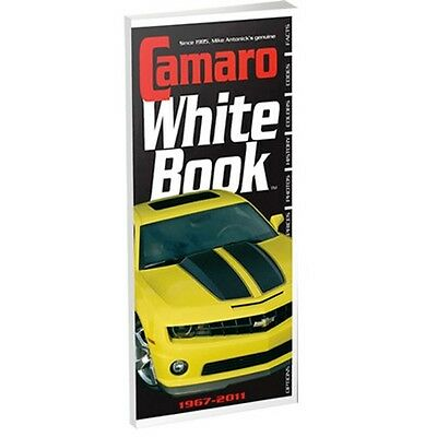 Camaro White Book 1967-2011 options production codes VIN NUMBERS COLOR CODES