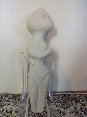 Antique Huge Stone Figure statuette,mother godess,fertility,humanoid,idol,alien