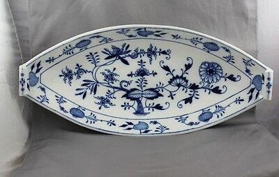 Meissen Blue Onion Oval Serving Tray Bowl Centerpiece Cross Swords 1st Quality