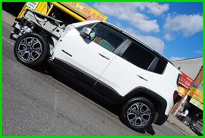 2015 Jeep Renegade Limited 4x4 My Sky Navigation $30,725 MSRP Repairable Rebuildable Salvage Wrecked Runs Drives EZ Project Needs Fix Save Big