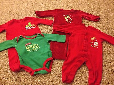 Baby unisex 4-piece Christmas lot size 3 months first Christmas holiday