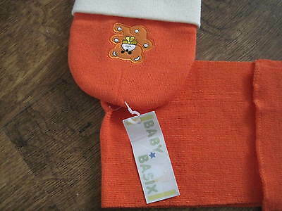 New Hat And Scarf Set From Baby Basix In Orange And Cream
