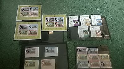 Collection of Queen Elizabeth II Mint Stamps 25th Anniversary of Coronation