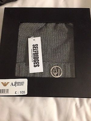 Armani Jeans Beanie And Scarf Set