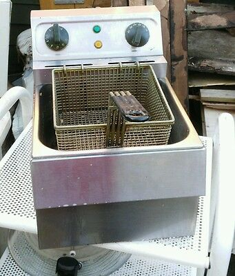 commercial stainless steel countertop electric 240 3 pin food fryer