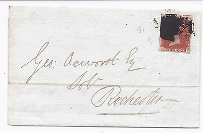 GB QV 1d Red SG8-12 Spec BS26 'LE' Plate 41 on cover