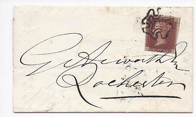 GB QV 1d Red SG8-12 Spec BS9g 'GF' Plate 20 on cover