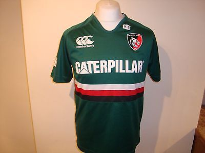 Leicester Tigers #10 GEORGE Rugby Union Home Shirt Medium Mens Canterbury