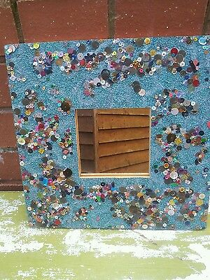 Colourful mirror with sparkling sequins