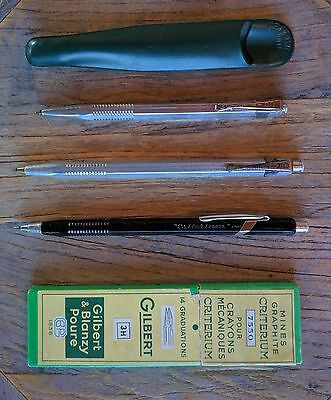 LOT 3 CRITERIUM 2mm 2603 2613 2707 bille Leadholder Vintage 1950 Gilbert RARE !
