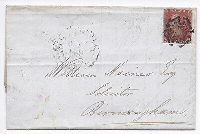 GB QV 1d Red SG8-12 Spec BS26 'LH' Plate 39 on cover