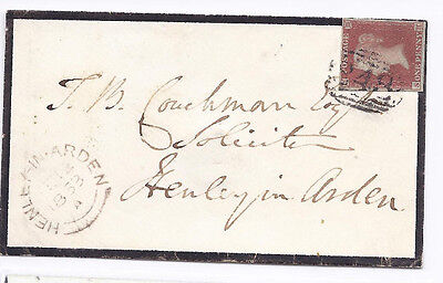 GB QV 1d Red SG8-12 Spec B2 'SH' Plate 106 on cover