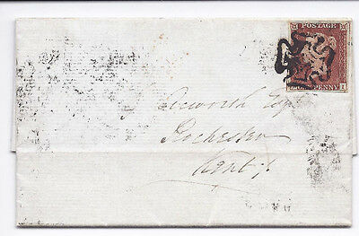 GB QV 1d Red SG8-12 Spec BS5c 'PI' Plate 16 on cover