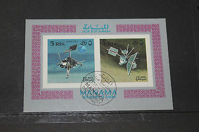 Manama 1969 Space And Satelite  Imperf Minature Sheet Fine M/n/h