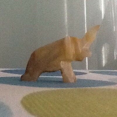 Miniature marble stone elephant figure very collectable
