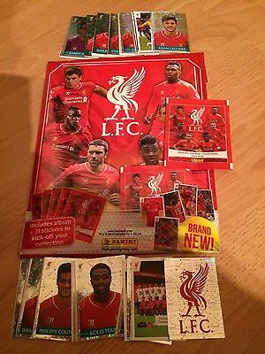Complete Loose Set 192 Liverpool 2014/2015 Panini Stickers Excellent Condition