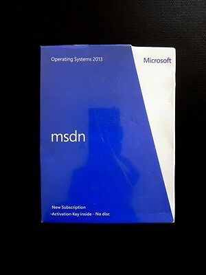 Microsoft MSDN OS Operating System 2013 Subscription ENGLISH H5F-00172 (NEW)