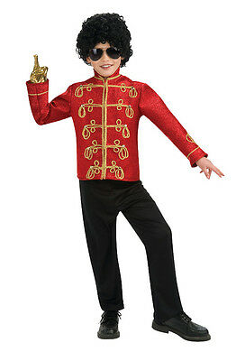Brand New Michael Jackson Deluxe Red Military Jacket Child Halloween Costume