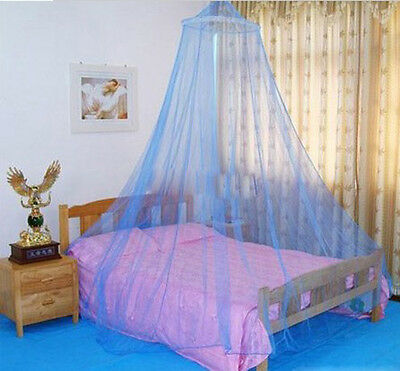 Mosquito Mesh Net Fly Insect Bug Protection Bed outdoor Canopy Netting Dome BLUE
