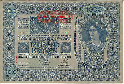 Austro-Hungarian Empire 1000 KRONEN BANKNOTE 1902 ISSUED