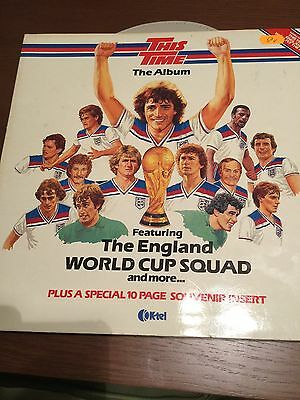 The England World  Cup Squad Lp Record Vinyl