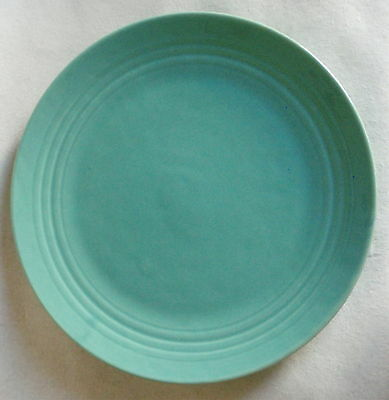 "Vintage ""BAUER POTTERY"" Ringed Chop Plate / Charger – Jade Glaze – 14 3/4"" Dia."