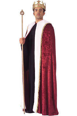 Brand New Renaissance Medieval Red Royalty King's Robe Adult Costume