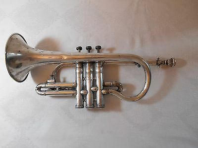 Vintage Silver Plated BOOSEY & HAWKES Imperial Soprano Cornet SPARES REPAIR