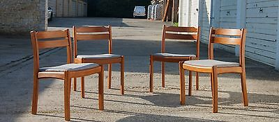 Mid Century British Vintage Four Dining Chairs Danish era Upholstered DELIVERY