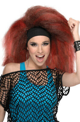 Brand New 1980s Dance Party Rocking Red Adult Costume Wig