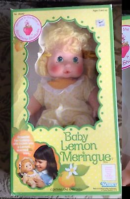 Vintage Strawberry Shortcake Baby Lemon Meringue Doll 1982 Blow Kiss Nrfb