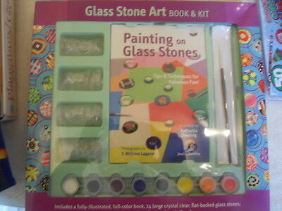Glass Stone Art Book & Kit - Tips & techniques for painting on glass stones