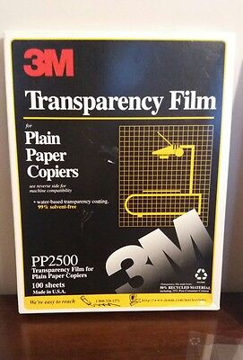 """3M PP2500 Transparency Film For Copiers 8 1/2"""" x 11"""""""