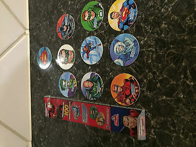 Tazos - DC Justice League- 10 from the Fritto lay collection - current - unusual