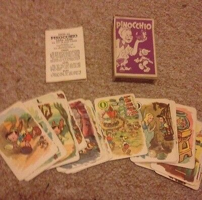 Vintage Disney Pinocchio Card Game By Pepys 1937 Complete