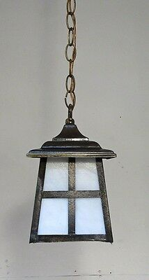 Antique Vintage Pendant Lantern Chandelier Slag Glass Light