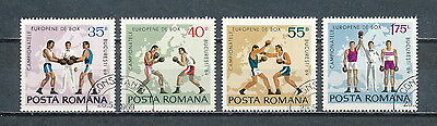 Romania #2099-02 used, 1969 European Boxing Championships