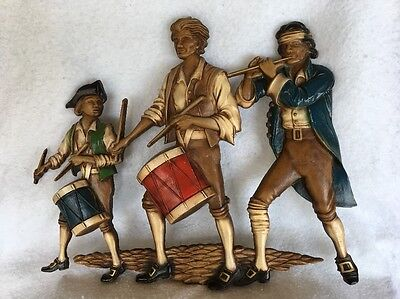 Vintage Sexton Revolutionary War Drum & Fife Cast Iron Wall Hanging-Collectible!
