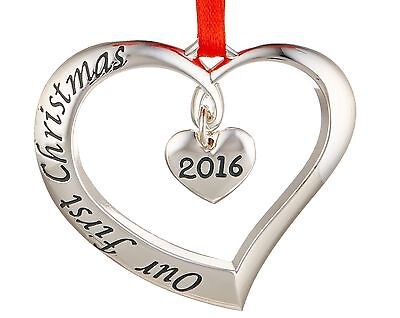 Lenox 2016 Our First Christmas Ornament