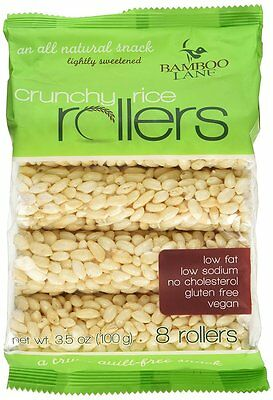 Bamboo Lane Crunchy Rice Rollers (3 bag=24 rollers 10.5oz total) FREE SHIP
