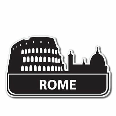 Rome Italy Suitcase Vinyl Sticker - SELECT SIZE