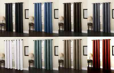 "2 Panels Lined Heavy Thick 99% Blackout Grommet Window Curtain Drape K86 95""l"