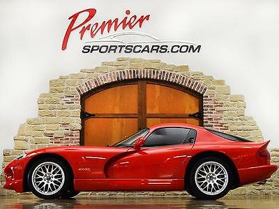 2001 Dodge Viper GTS Coupe 2-Door ACR, Only 2600 Miles, Silver Stripes, Collector Quality!