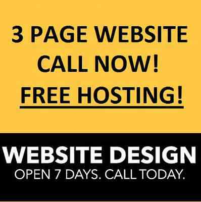 3 Page Website Design - Free Hosting - Affordable with GREAT Service