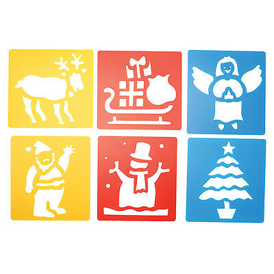 Christmas Plastic Stencils  Pack of 6