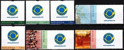 MOLDOVA 2015-17 Personal Stamps, MNH